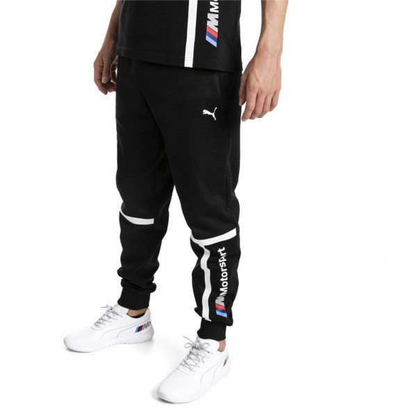 BMW Motorsport Knitted Men's Sweatpants, Puma Black, large