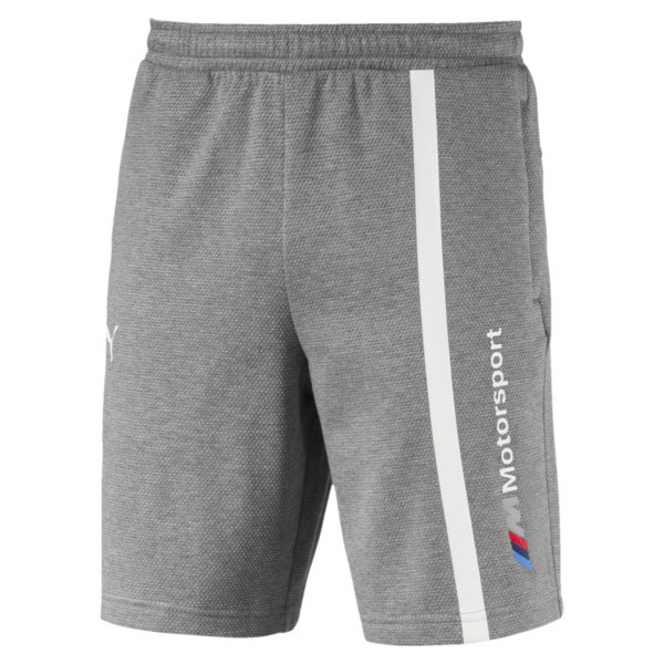 BMW Motorsport Men's Sweat Shorts, Medium Gray Heather, large
