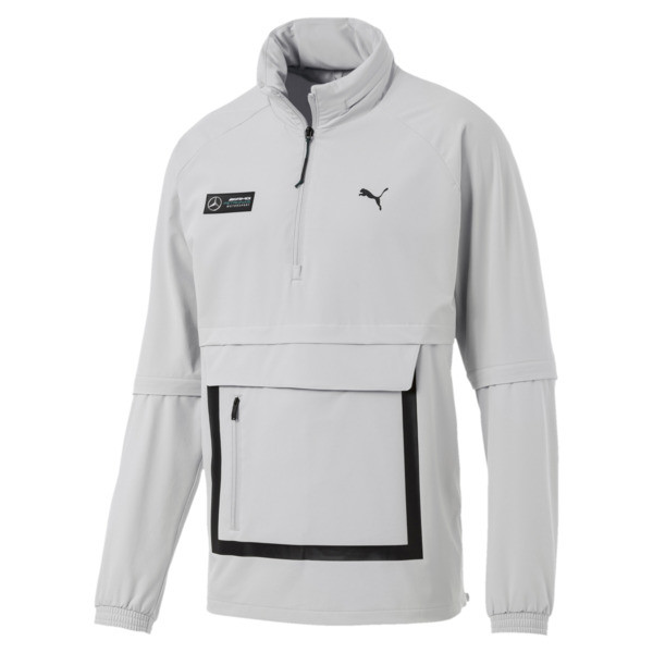 Mercedes AMG Petronas Men's RCT Jacket, Mercedes Team Silver, large