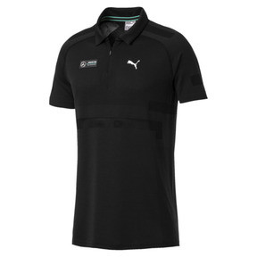Miniaturka 1 Męska koszulka polo MERCEDES AMG PETRONAS evoKNIT, Puma Black, średnie