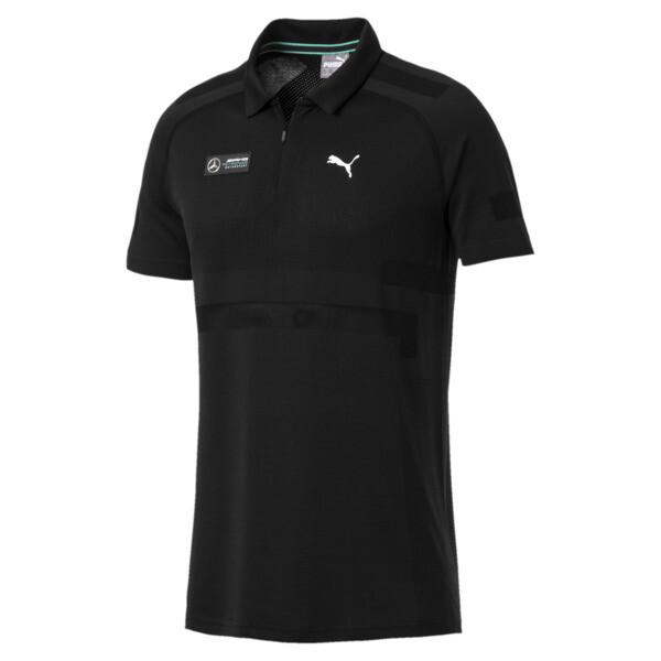 Męska koszulka polo MERCEDES AMG PETRONAS evoKNIT, Puma Black, obszerny