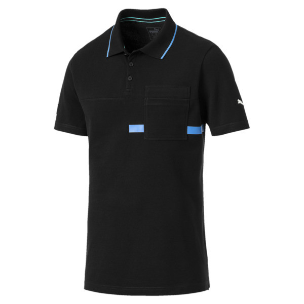 MERCEDES AMG PETRONAS Men's Polo Shirt, Puma Black, large