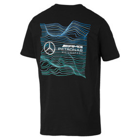 Thumbnail 2 of Mercedes AMG Petronas Motorsport Logo Men's Tee, Puma Black, medium