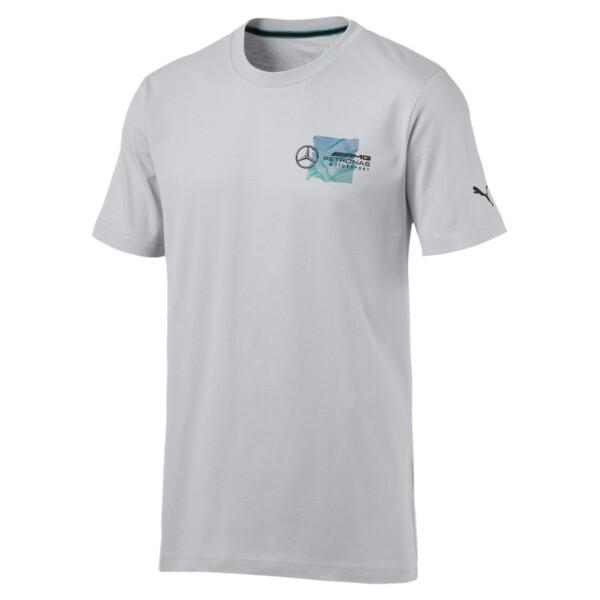 Mercedes AMG Petronas Motorsport T-shirt met logo voor mannen, Mercedesteam-zilver, large