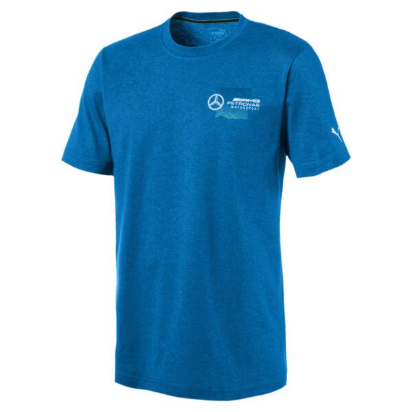 Mercedes AMG Petronas Motorsport T-shirt met logo voor mannen, Indigo Bunting Heather, large