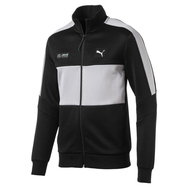 Mercedes AMG Petronas Men's T7 Track Jacket, Puma Black, large