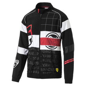 Thumbnail 4 of Scuderia Ferrari Street Men's Woven Jacket, Puma Black, medium