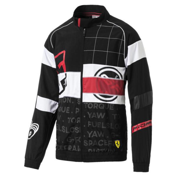 Scuderia Ferrari Street Men's Woven Jacket, Puma Black, large