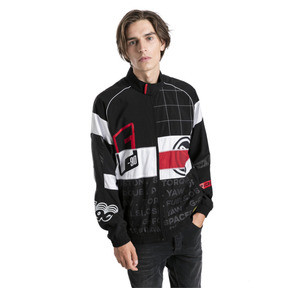 Thumbnail 1 of Ferrari Street Woven Men's Jacket, Puma Black, medium
