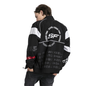 Thumbnail 2 of Scuderia Ferrari Street Men's Woven Jacket, Puma Black, medium