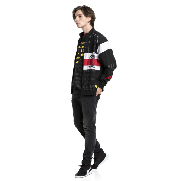 Ferrari Street Woven Men's Jacket, Puma Black, large