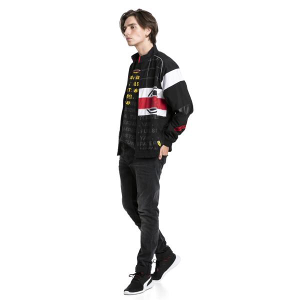 Ferrari Street Herren Gewebte Jacke, Puma Black, large