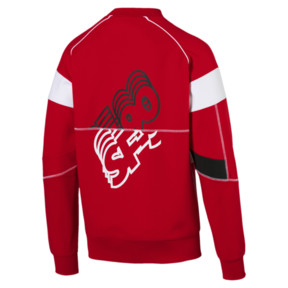 Thumbnail 5 of Ferrari Street Men's Sweater, Rosso Corsa, medium