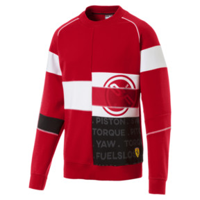 Thumbnail 4 of Scuderia Ferrari Street Men's Crewneck Sweatshirt, Rosso Corsa, medium