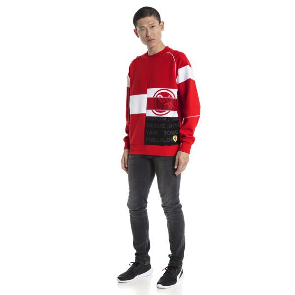 Scuderia Ferrari Street Men's Crewneck Sweatshirt, Rosso Corsa, large