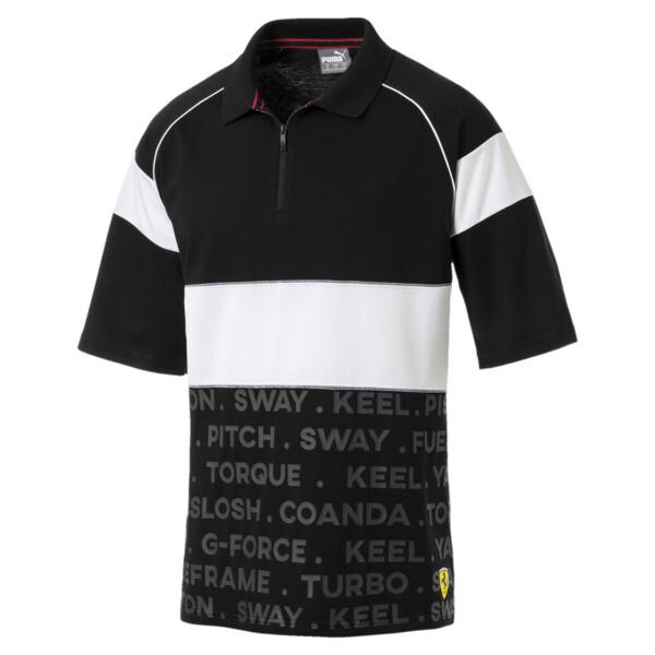 Scuderia Ferrari Street Men's Polo, Puma Black, large