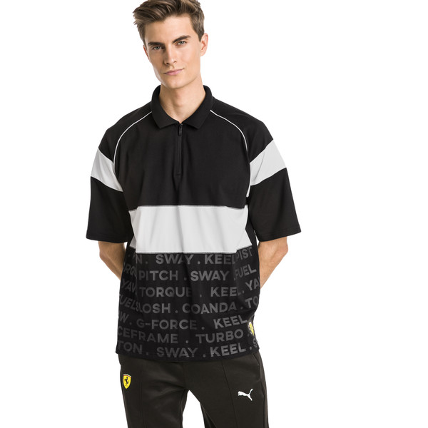 Ferrari Street Men's Polo, Puma Black, large