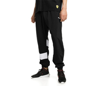 Thumbnail 1 of Ferrari Street Woven Men's Pants, Puma Black, medium