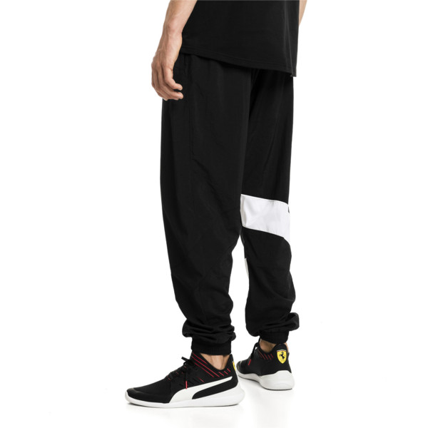 Ferrari Street Woven Men's Pants, Puma Black, large