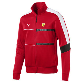 Thumbnail 4 of Scuderia Ferrari Men's T7 Track Jacket, Rosso Corsa, medium