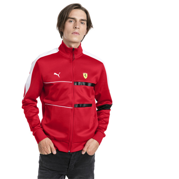 Ferrari T7 Men's Track Jacket, Rosso Corsa, large