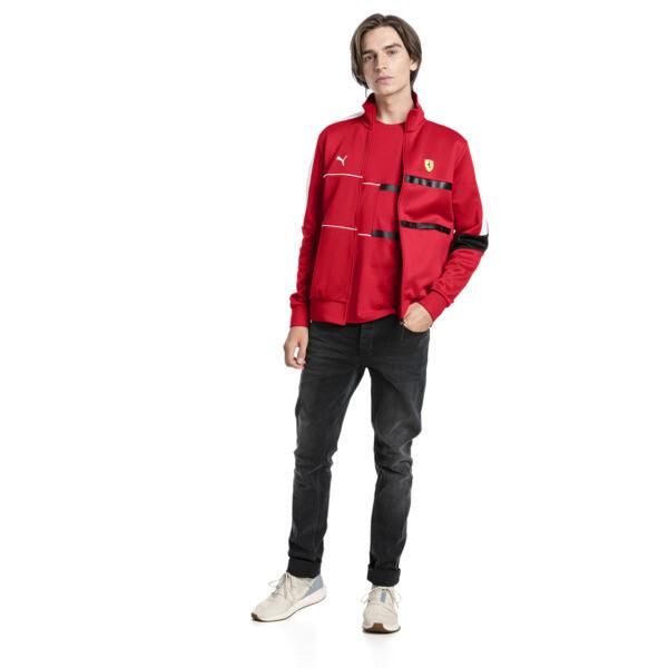 Scuderia Ferrari Men's T7 Track Jacket, Rosso Corsa, large