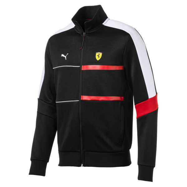 Scuderia Ferrari Men's T7 Track Jacket, Puma Black, large