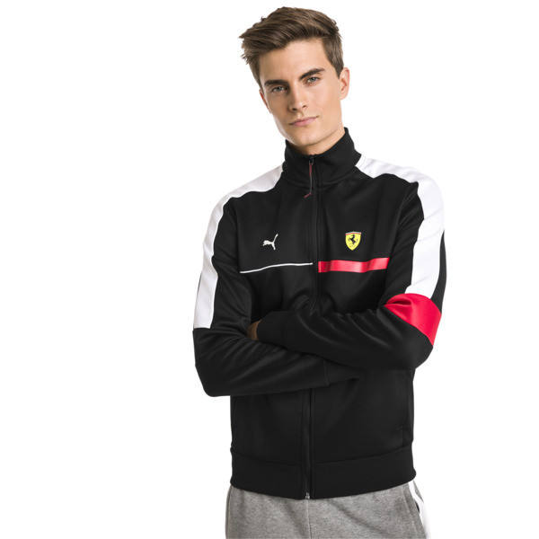 Ferrari T7 Men's Track Jacket, Puma Black, large