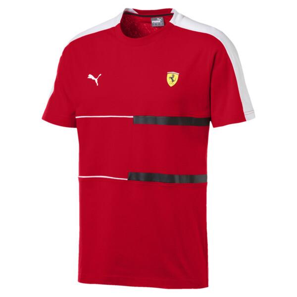 Ferrari T7 Men's Tee, Rosso Corsa, large
