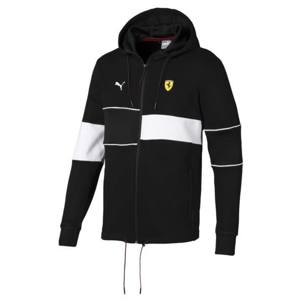 Scuderia Ferrari Men's Hooded Sweat Jacket, Puma Black, large
