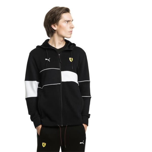 Ferrari Hooded Zip-Up Men's Jacket, Puma Black, large