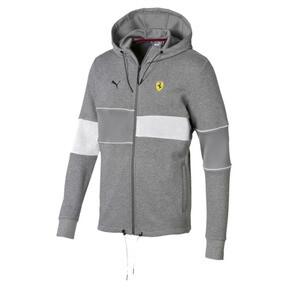 Thumbnail 4 of Ferrari Hooded Zip-Up Men's Jacket, Medium Gray Heather, medium