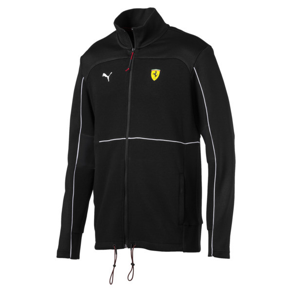 Scuderia Ferrari Sweat Jacket, Puma Black, large