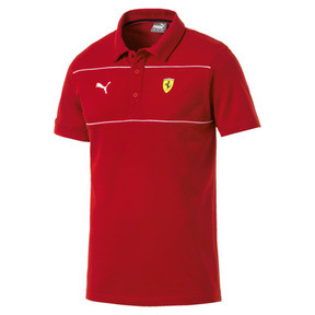 Ferrari poloshirt met logo voor heren