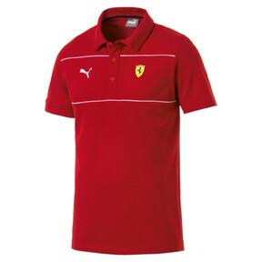 Thumbnail 4 of Ferrari Men's Branded Polo Shirt, Rosso Corsa, medium