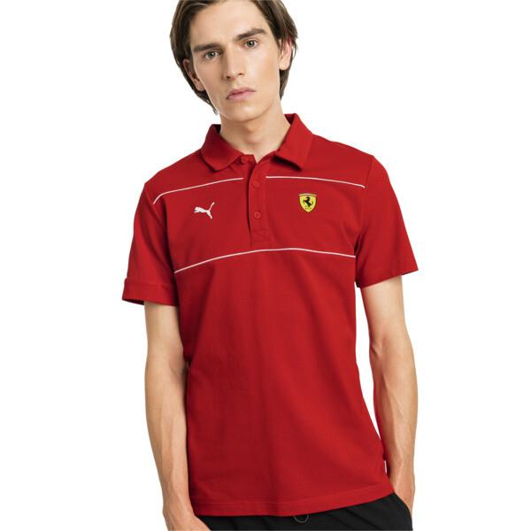 Ferrari Men's Branded Polo Shirt, Rosso Corsa, large