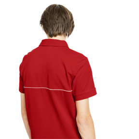 Thumbnail 2 of Ferrari Men's Branded Polo Shirt, Rosso Corsa, medium