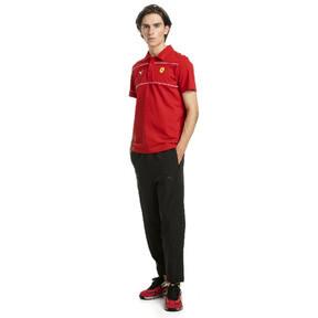 Thumbnail 3 of Ferrari Men's Branded Polo Shirt, Rosso Corsa, medium