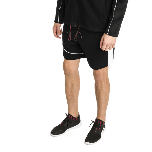 Ferrari Men's Sweat Shorts, Puma Black, large