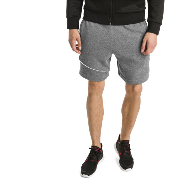 Ferrari Men's Sweat Shorts, Medium Gray Heather, large