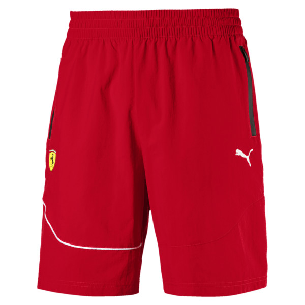 Scuderia Ferrari Men's Summer Shorts, Rosso Corsa, large