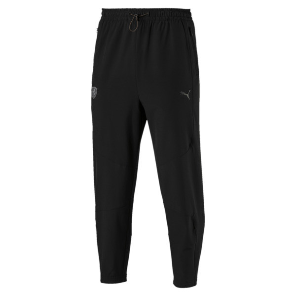 Ferrari Life Woven Men's Pants, Puma Black, large