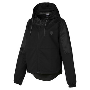 Thumbnail 4 of Ferrari Hooded Women's Sweat Jacket, Puma Black, medium