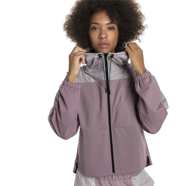 Ferrari Damen Kapuzen-Sweatjacke, Elderberry, large