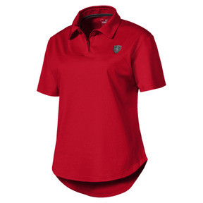 Thumbnail 4 of Ferrari Damen Polo, Rosso Corsa, medium