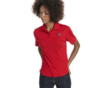 Thumbnail 1 of Ferrari Women's Polo, Rosso Corsa, medium