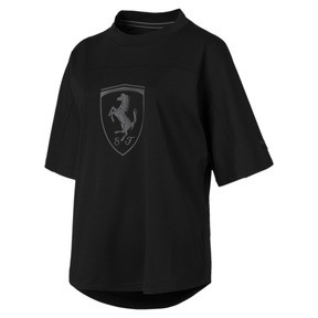 Thumbnail 4 of Ferrari Big Shield Women's Tee, Puma Black, medium