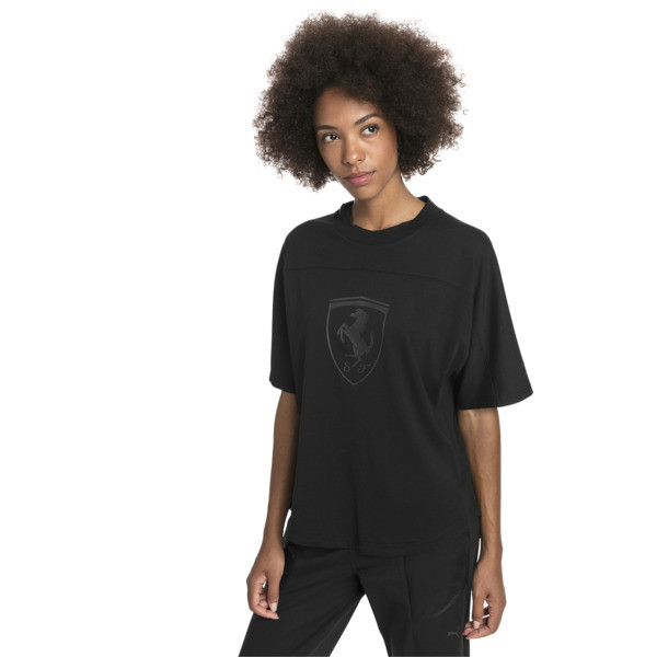 Ferrari Big Shield Women's Tee, Puma Black, large