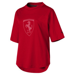 Thumbnail 4 of Ferrari Big Shield Women's Tee, Rosso Corsa, medium