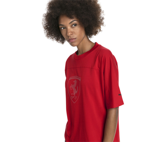Ferrari Big Shield Women's Tee, Rosso Corsa, large